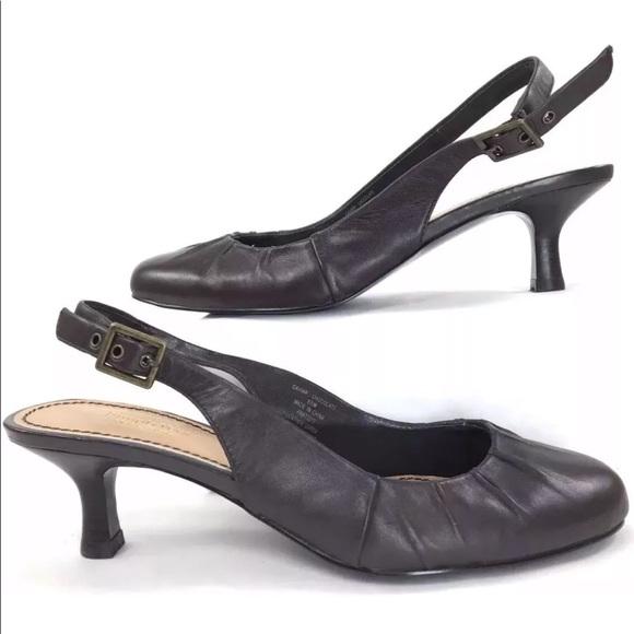 29b9a8195d7 Slingback kitten heels 8.5 strap round toe pumps.  M 5a4d0b2e8df470390f017a05. Other Shoes you may like. SIMPLY VERA VERA WANG  ...